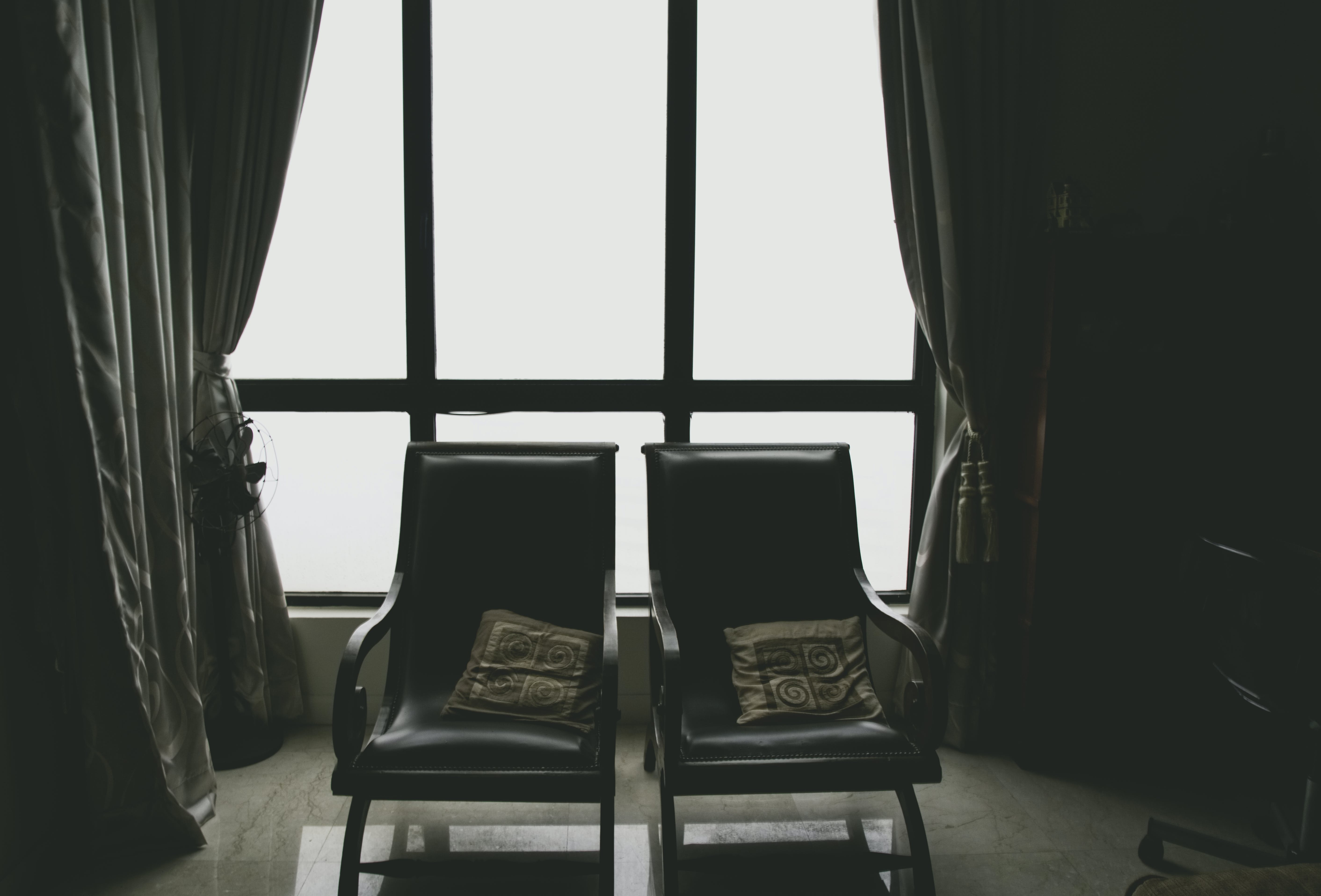 Free stock photo of after the rain, back light, chair, dark
