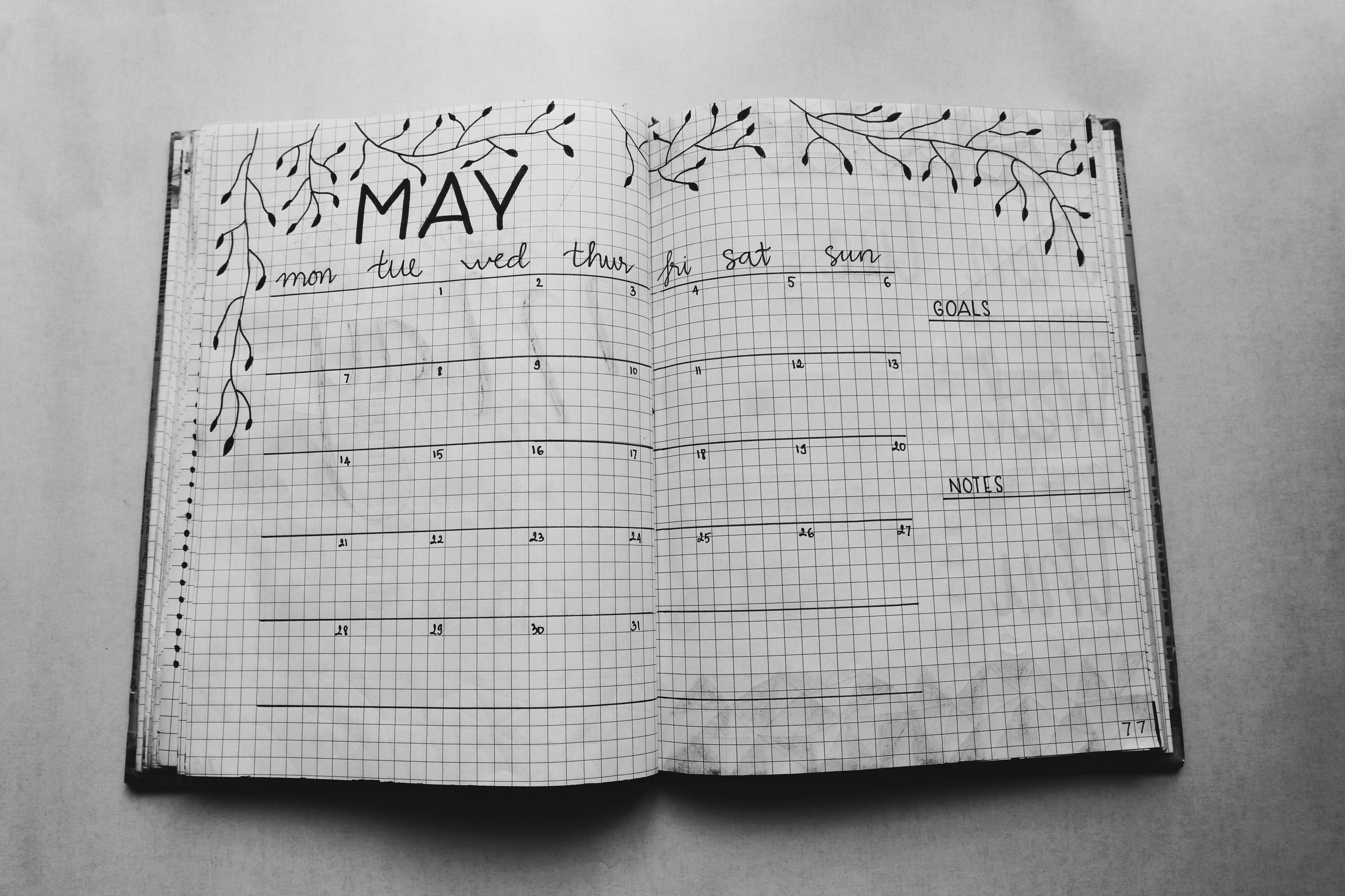 Close Photo of May Calendar Book