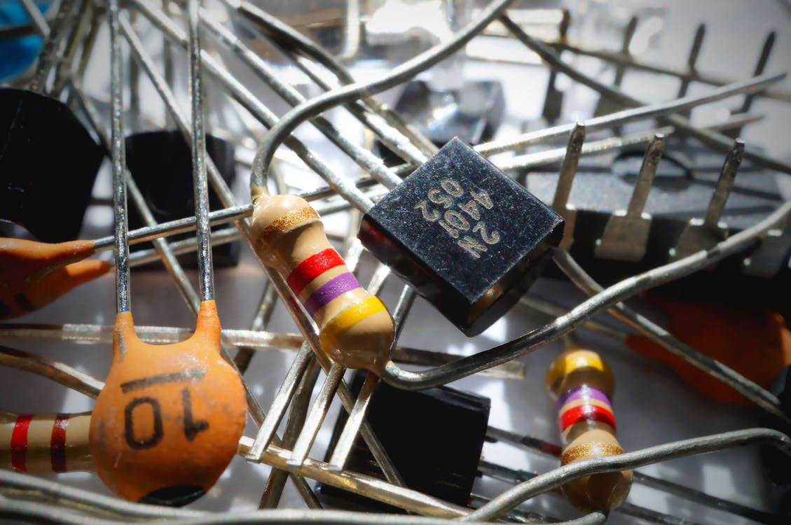Free stock photo of capacitor, components, electrical components