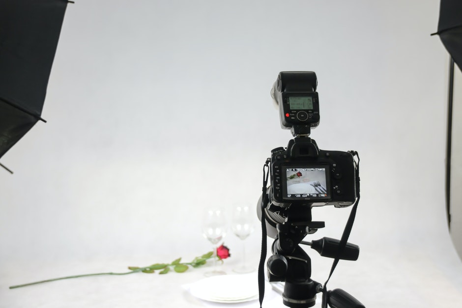 Black and White Polaroid Camera