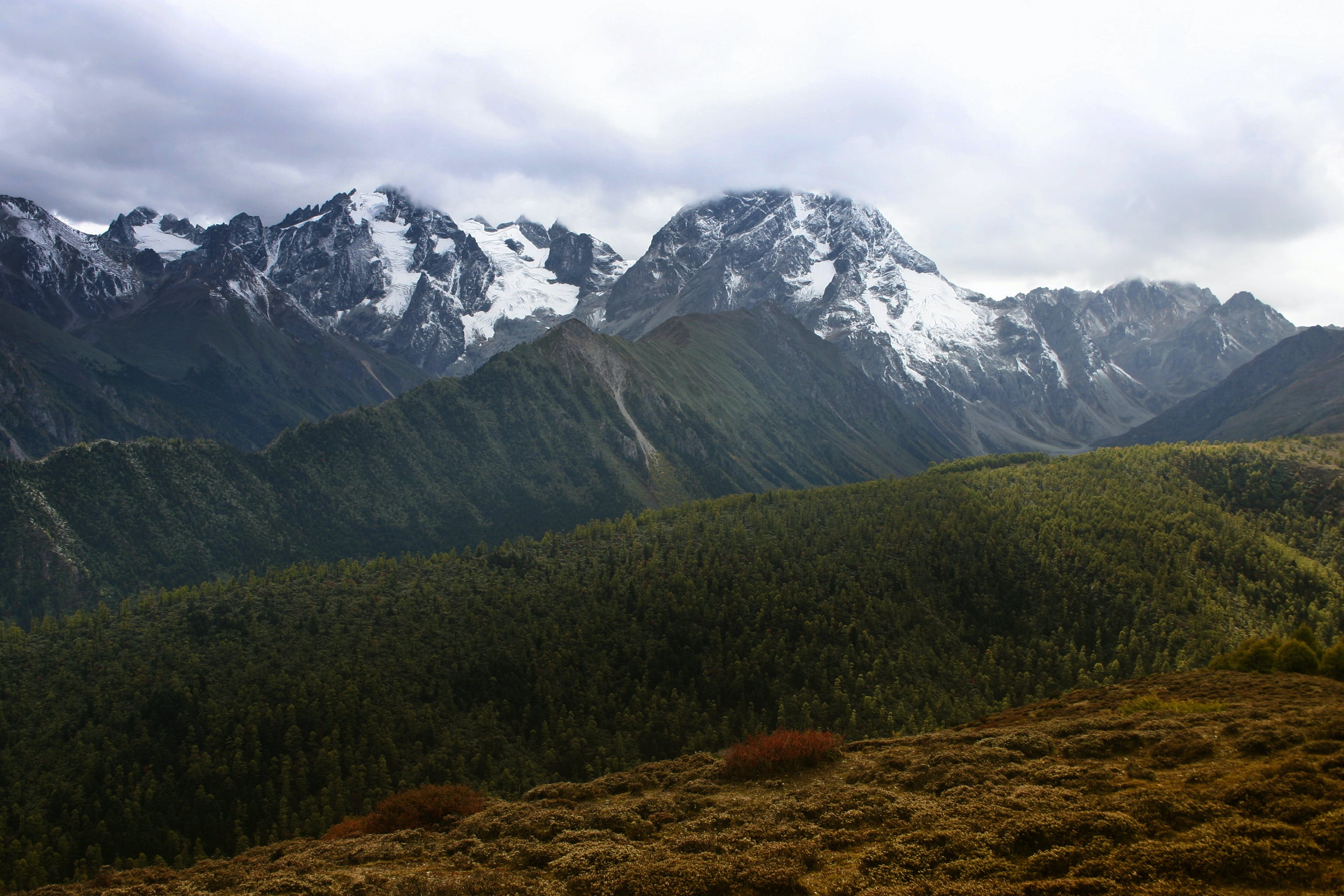 Mountain With Snow Caps