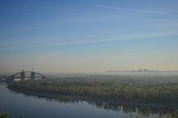 city, bridge, river