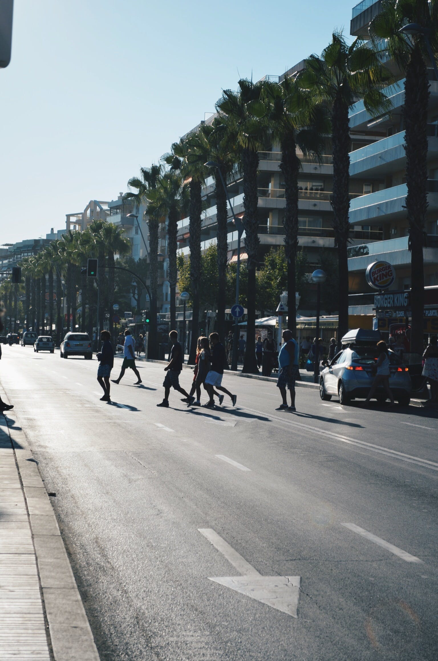 Free stock photo of road, people, car, morning