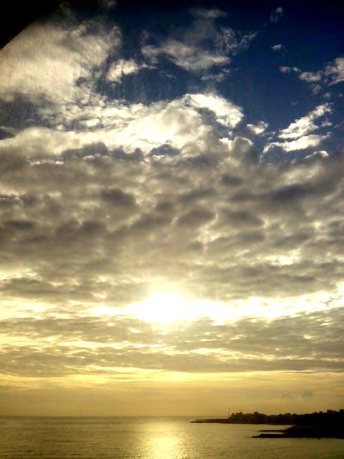 Free stock photo of cloudy sky, morning sky, sea