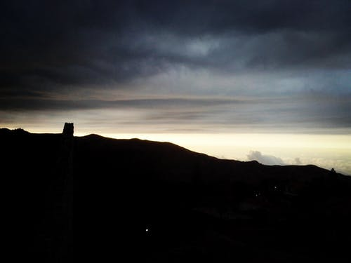 Free stock photo of dark, dark clouds, dark montain