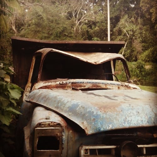 Free stock photo of abandoned, rusty, truck