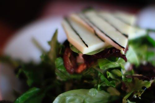 Free stock photo of balsamic glaze, cheese, greens, salad