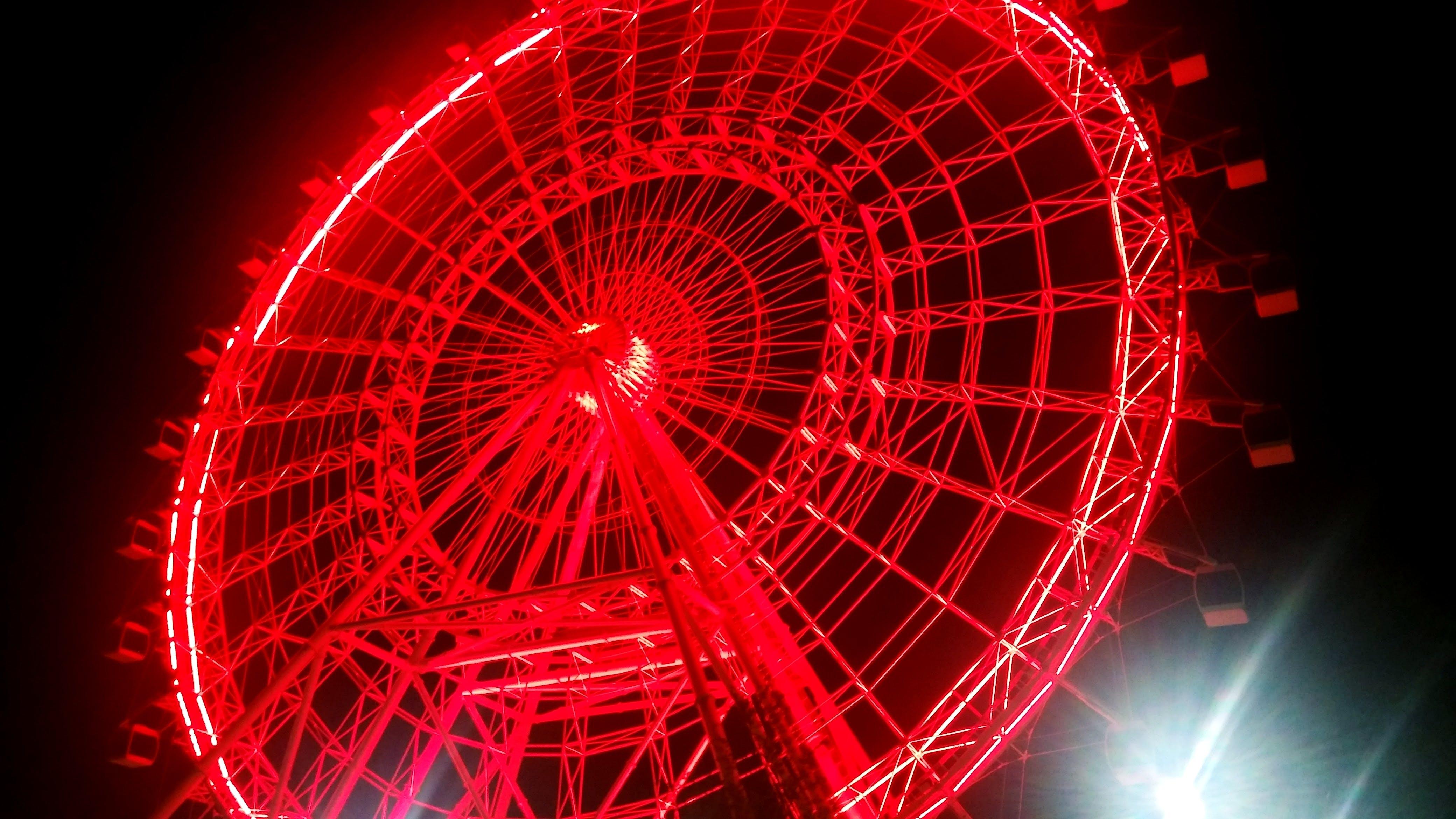 Ferris Wheel during Night Time