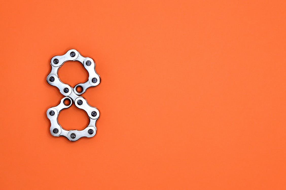 Gray Motorcycle Chain Form Number 8