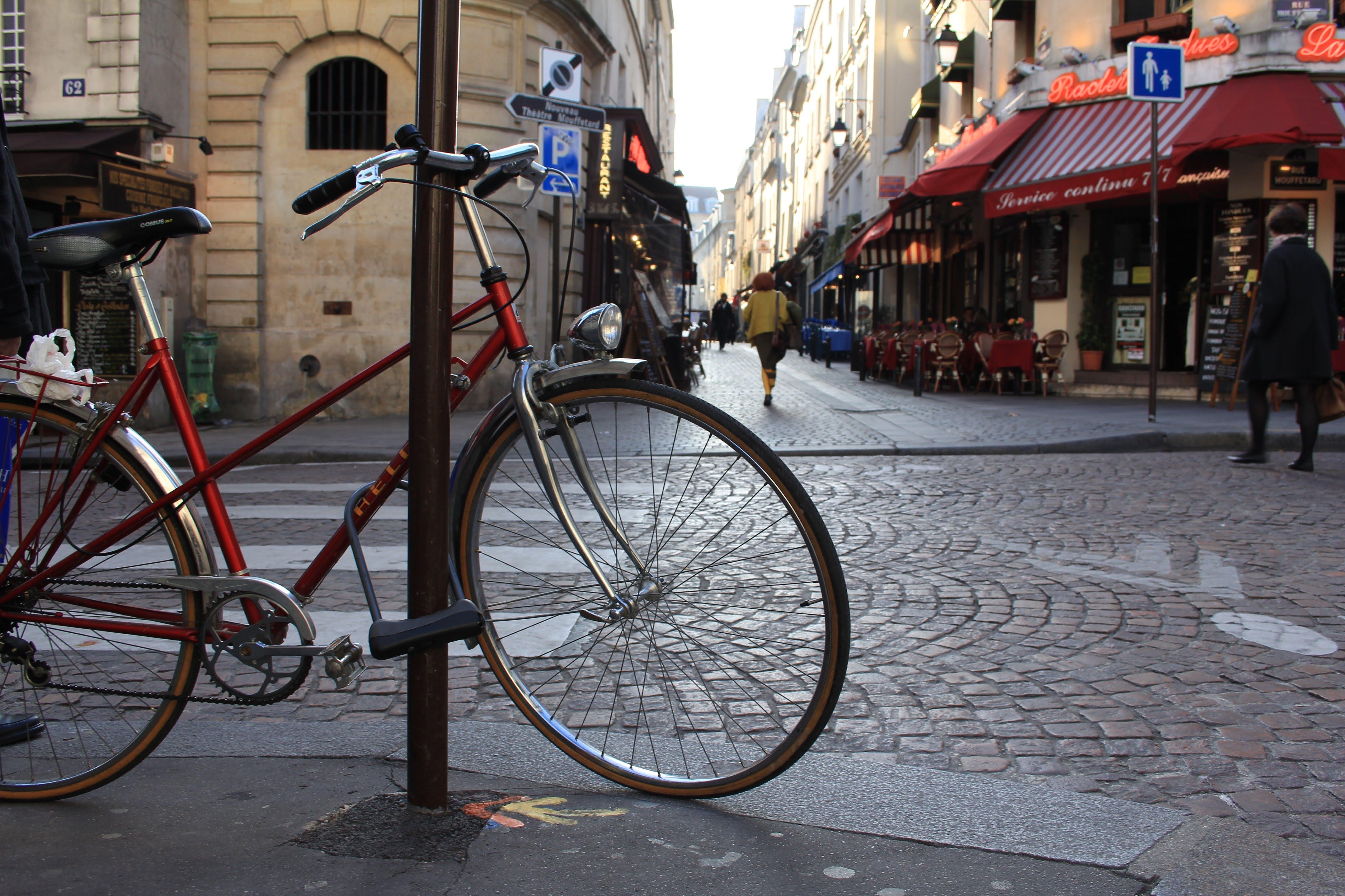 Free stock photo of antique, bike, cobblestone, europe