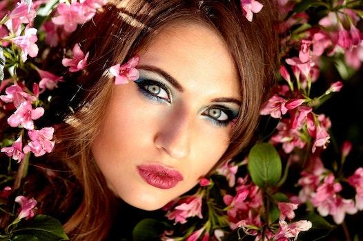 Woman Wearing Red Lipstick
