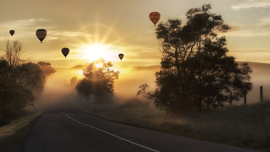 Hot Air Balloons on the Sky during Sunset Time