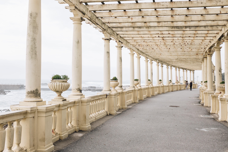 Beige Concrete Bridge Balustrade