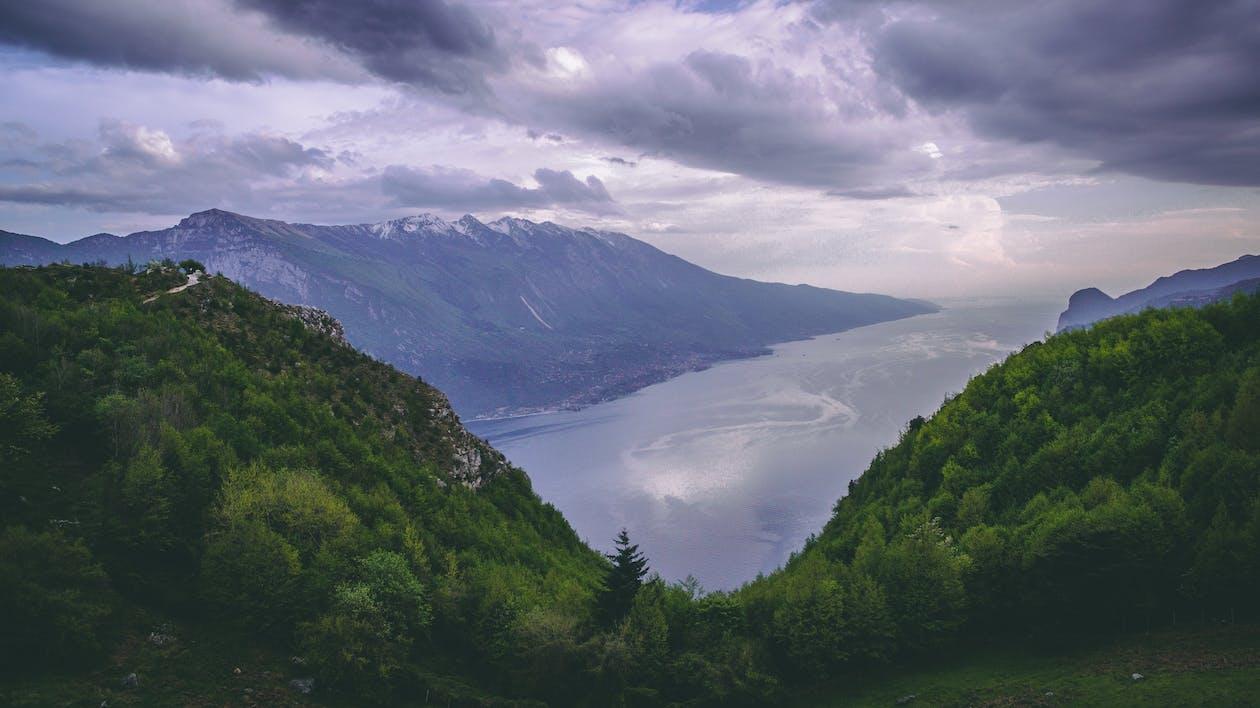 вода, высокий, гора