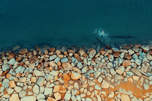 Foto d'estoc gratuïta de acomiadar-se, aigua, color, foto aèria