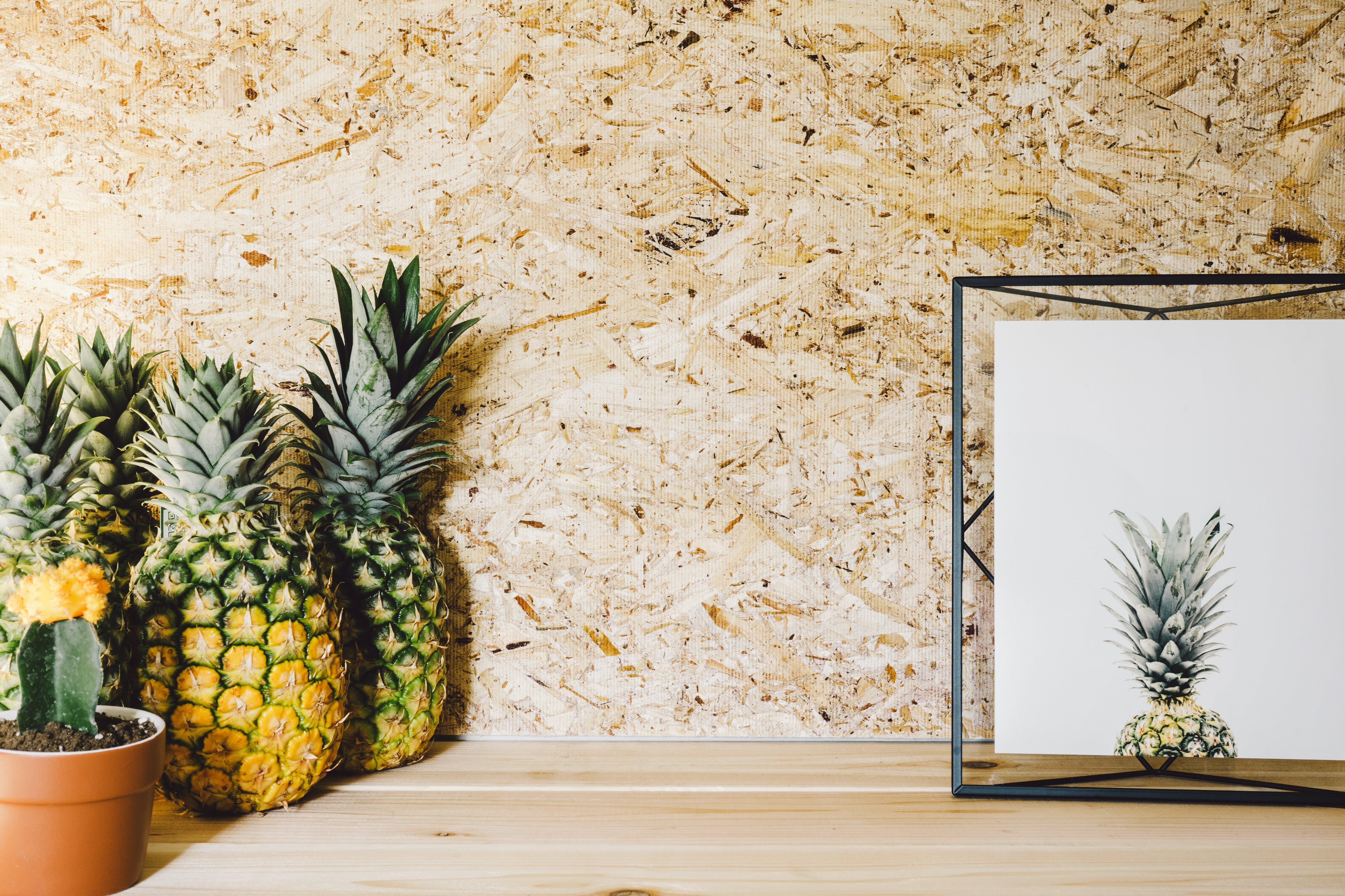 Gratis lagerfoto af ananas, billedramme, boligindretning, close-up