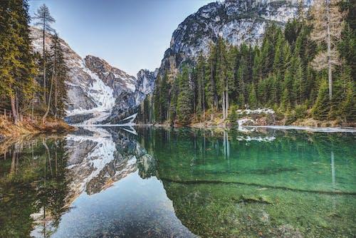 Foto stok gratis air, alam, danau, gunung