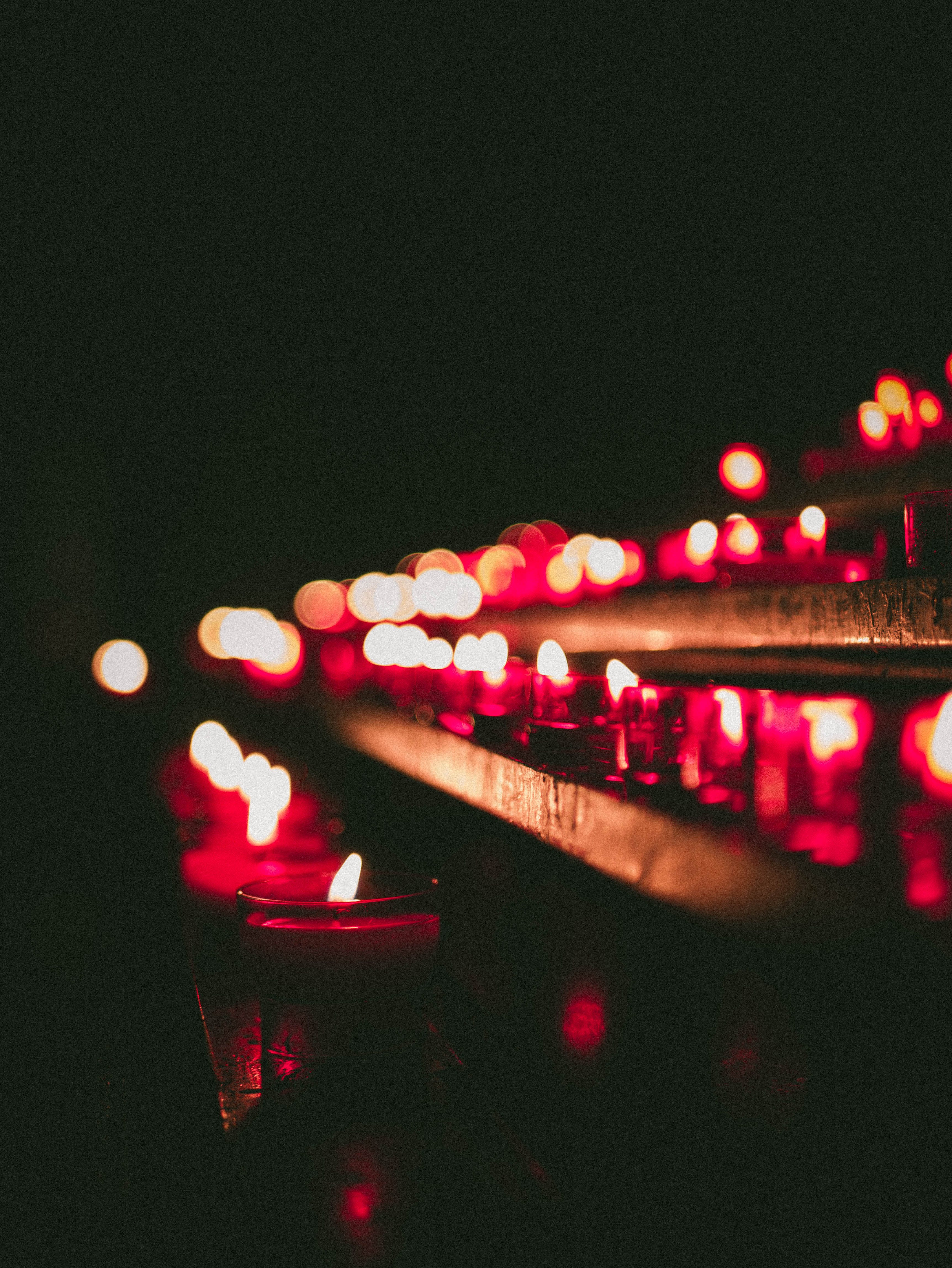Bokeh Photography Of Lighted Candles