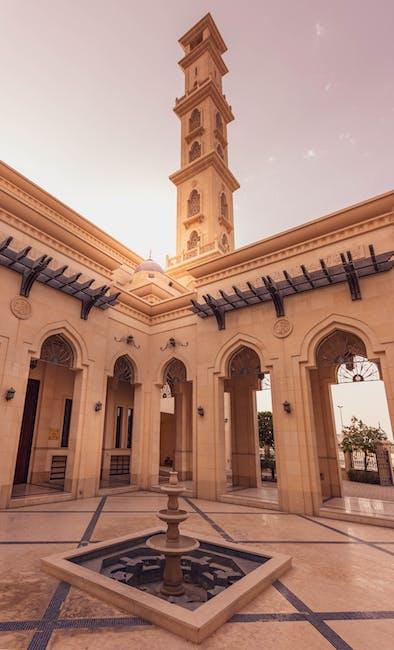 Outdoor fountain at a mosque