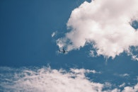 flight, sky, clouds