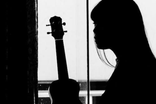 Free stock photo of black and white, guitar, music, ukukeke