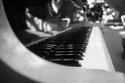 Free stock photo of black and white, black and-white, pianist, piano