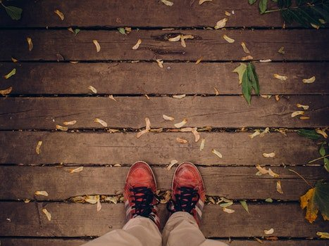 Free stock photo of feet, hiking, shoes, standing