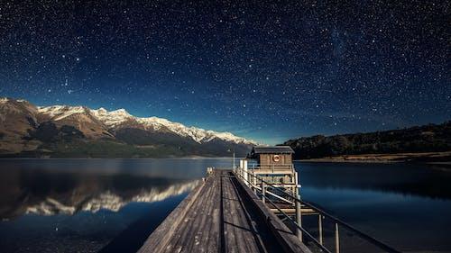 反射, 星星, 星空, 晚上 的 免權利金影像