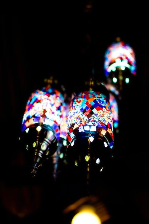 燈光, 豐富多彩 的 免费素材照片