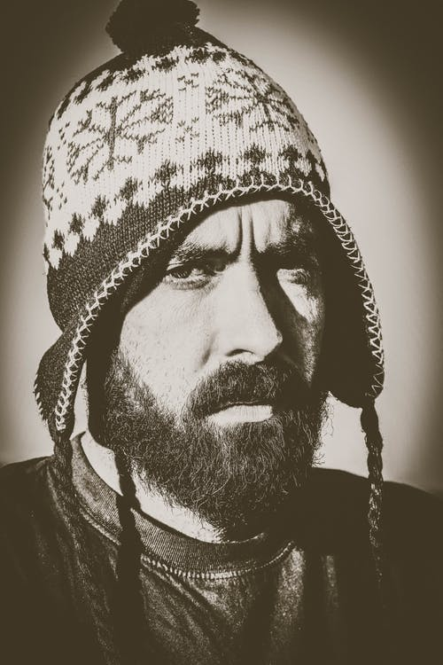 Free stock photo of beanie, black and white, chill, cold