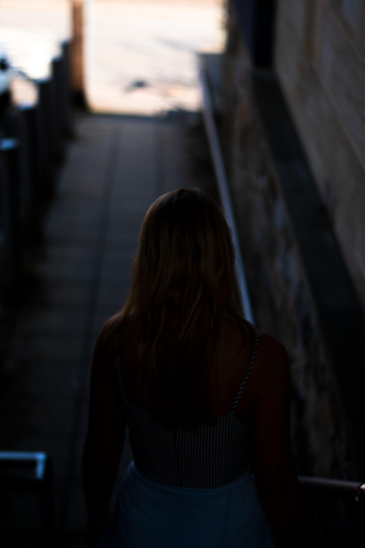 Free stock photo of alley, dark, girl, light