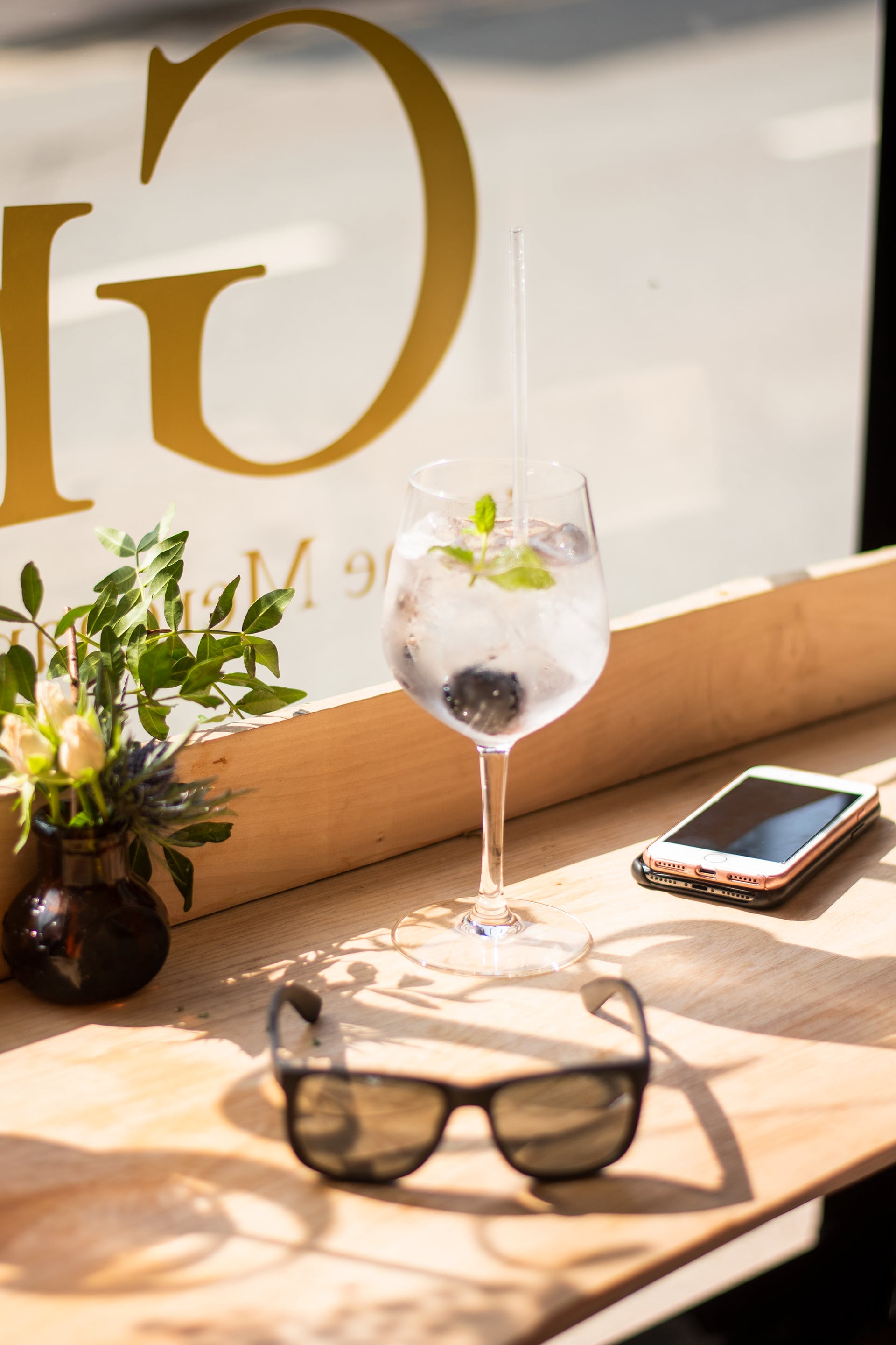 Free stock photo of day, flower, gin, glass