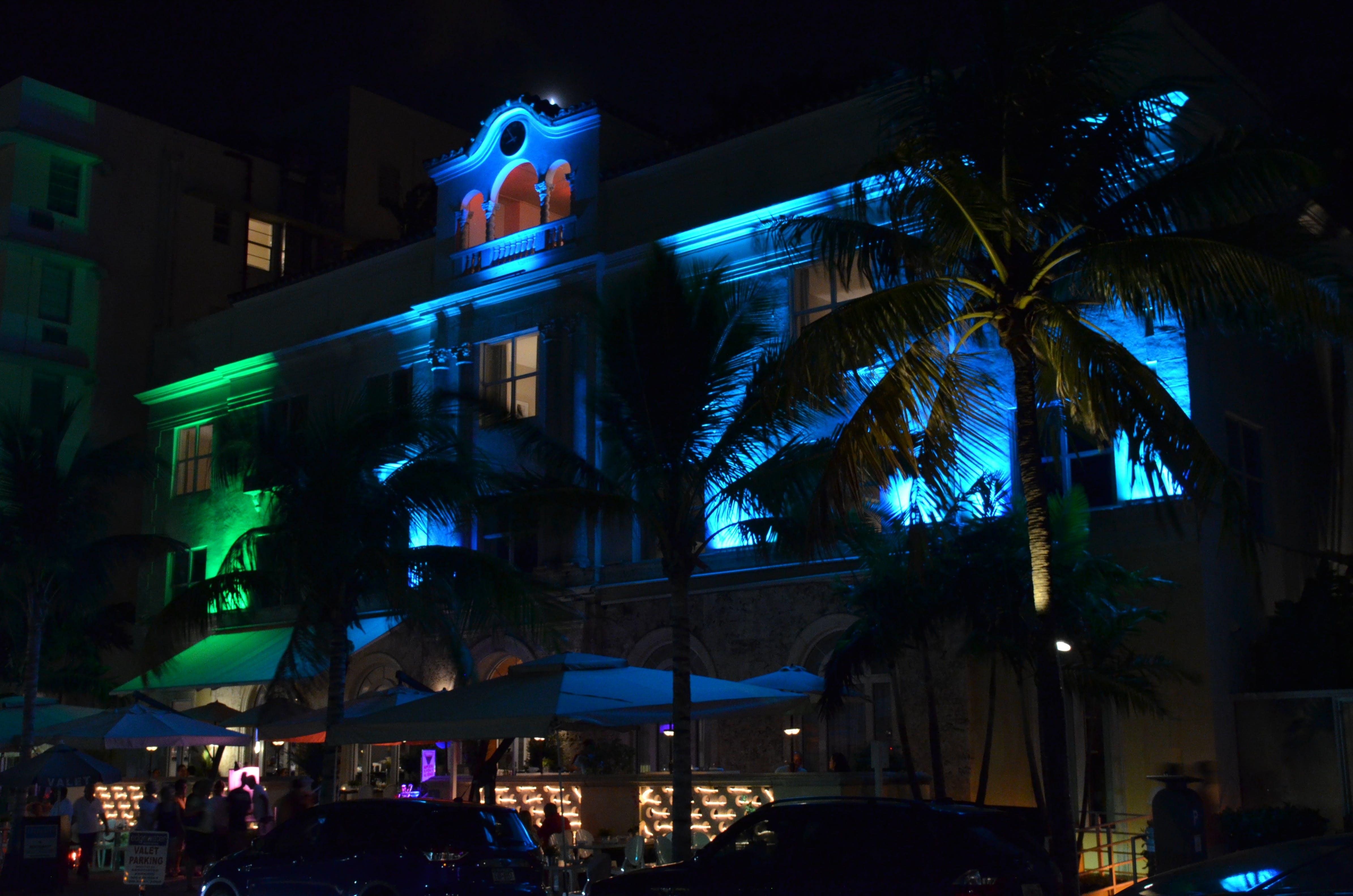 Free stock photo of city lights, florida, house, miami