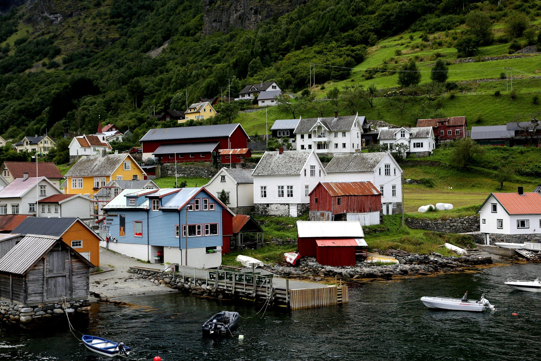 Darmowe zdjęcie z galerii z architektura, budynki, domy, fiord