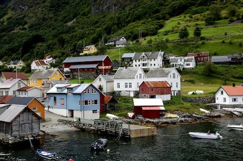 Village Near Body Of Water