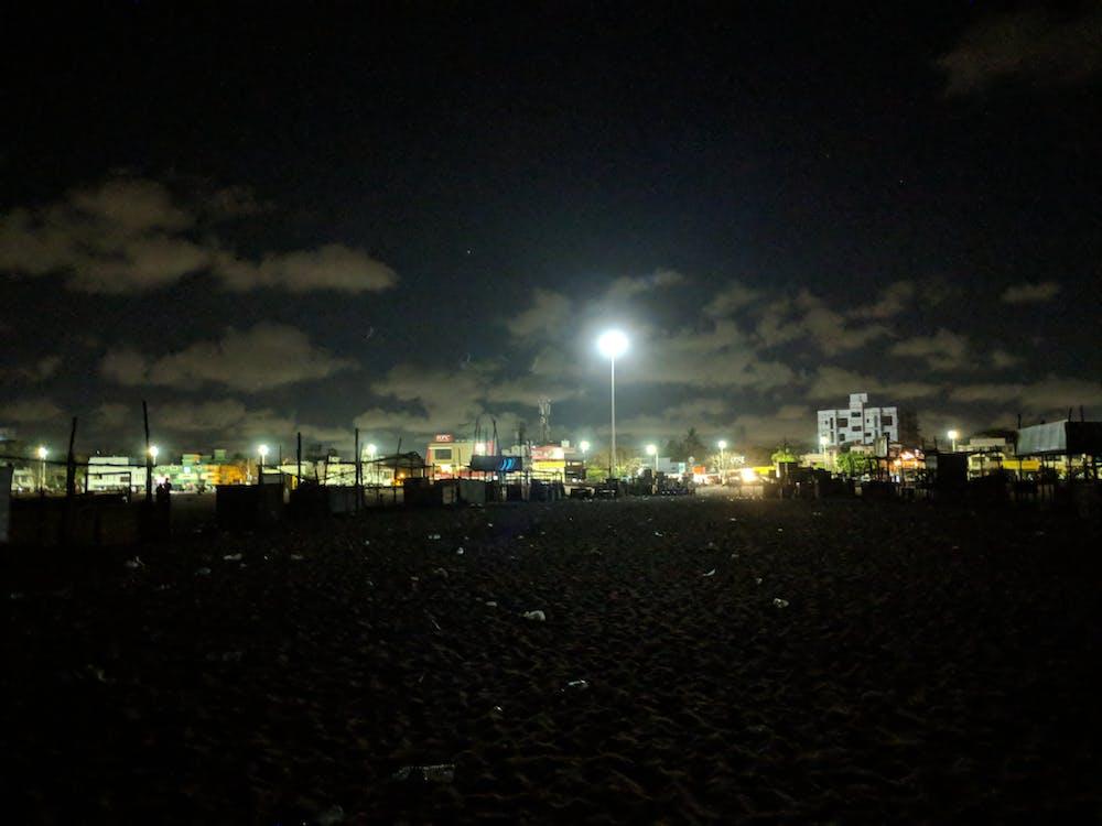 กลางคืน, การถ่ายภาพกลางคืน, ชายหาด