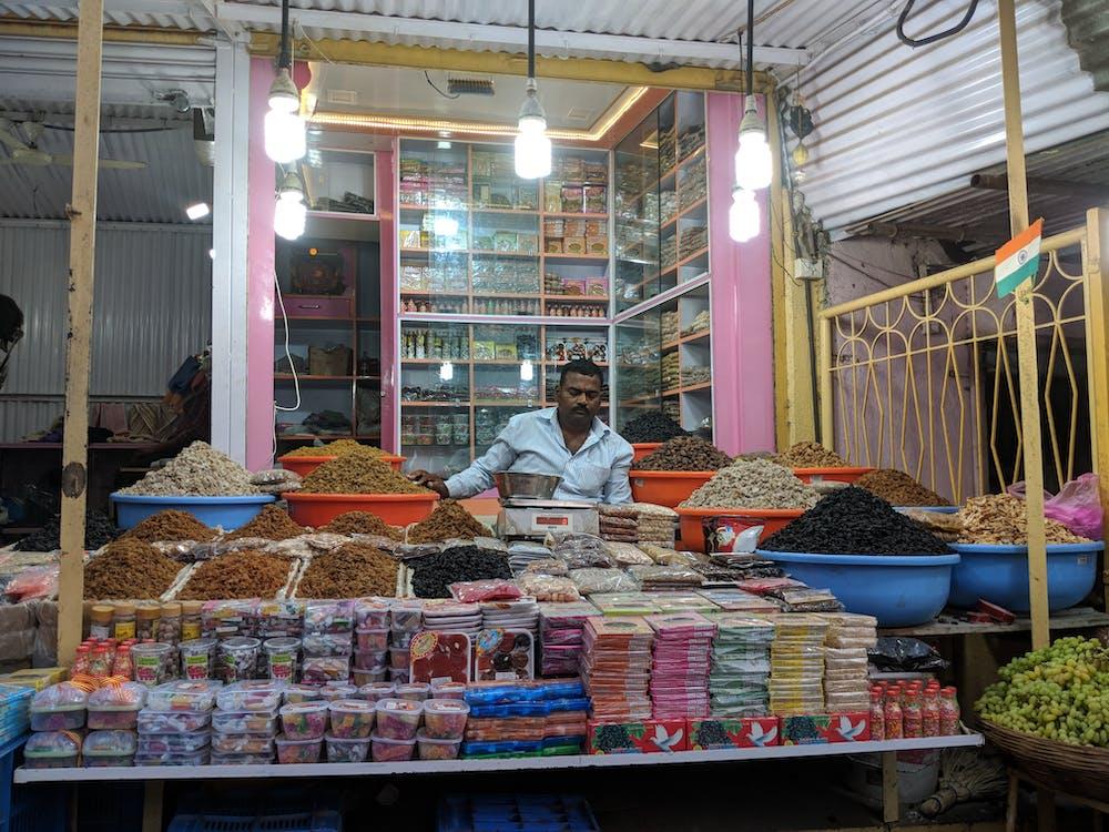 couleurs, cuisine de rue, marché
