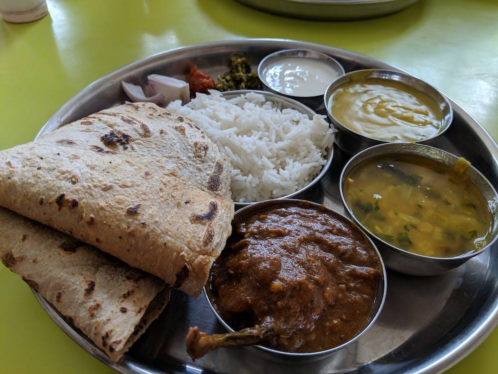 จัดวางอาหาร, ชาวอินเดีย, อาหารสด