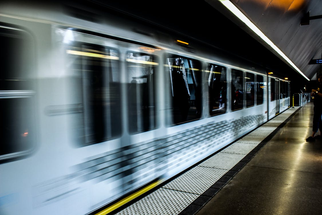 Timelapse Photography of White Train