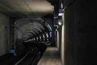dark, tunnel, architecture