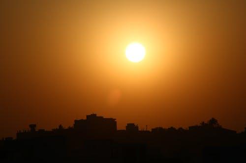 Free stock photo of evening, setting sun