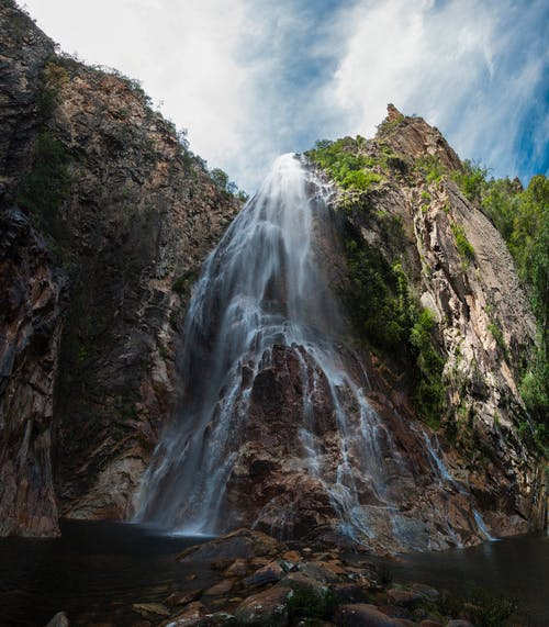 cachoeira do serrado, 低角度攝影, 天性, 岩石 的 免費圖庫相片