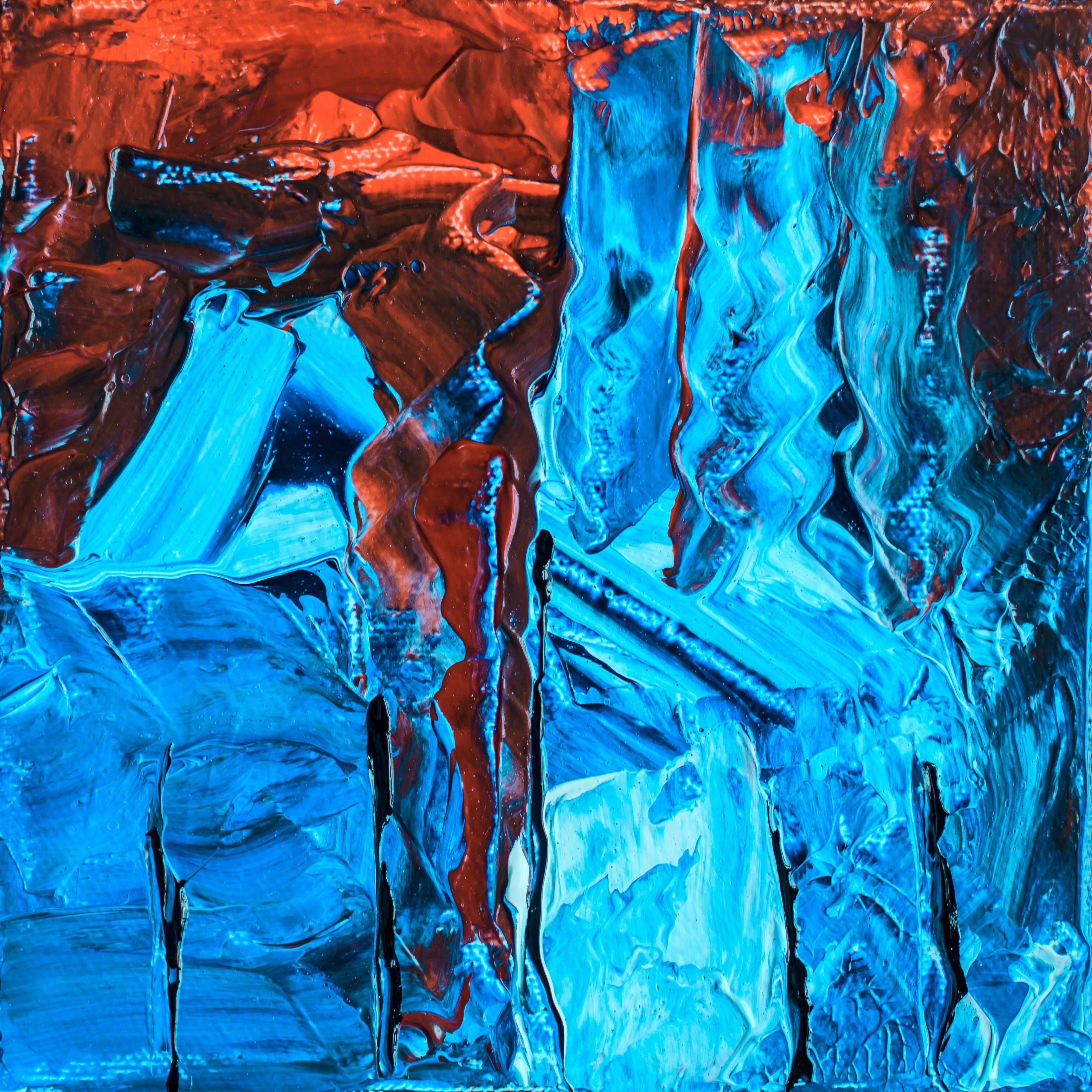 Kostenloses Stock Foto zu abstrakt, abstrakte kunst, abstraktes gemälde, acryl