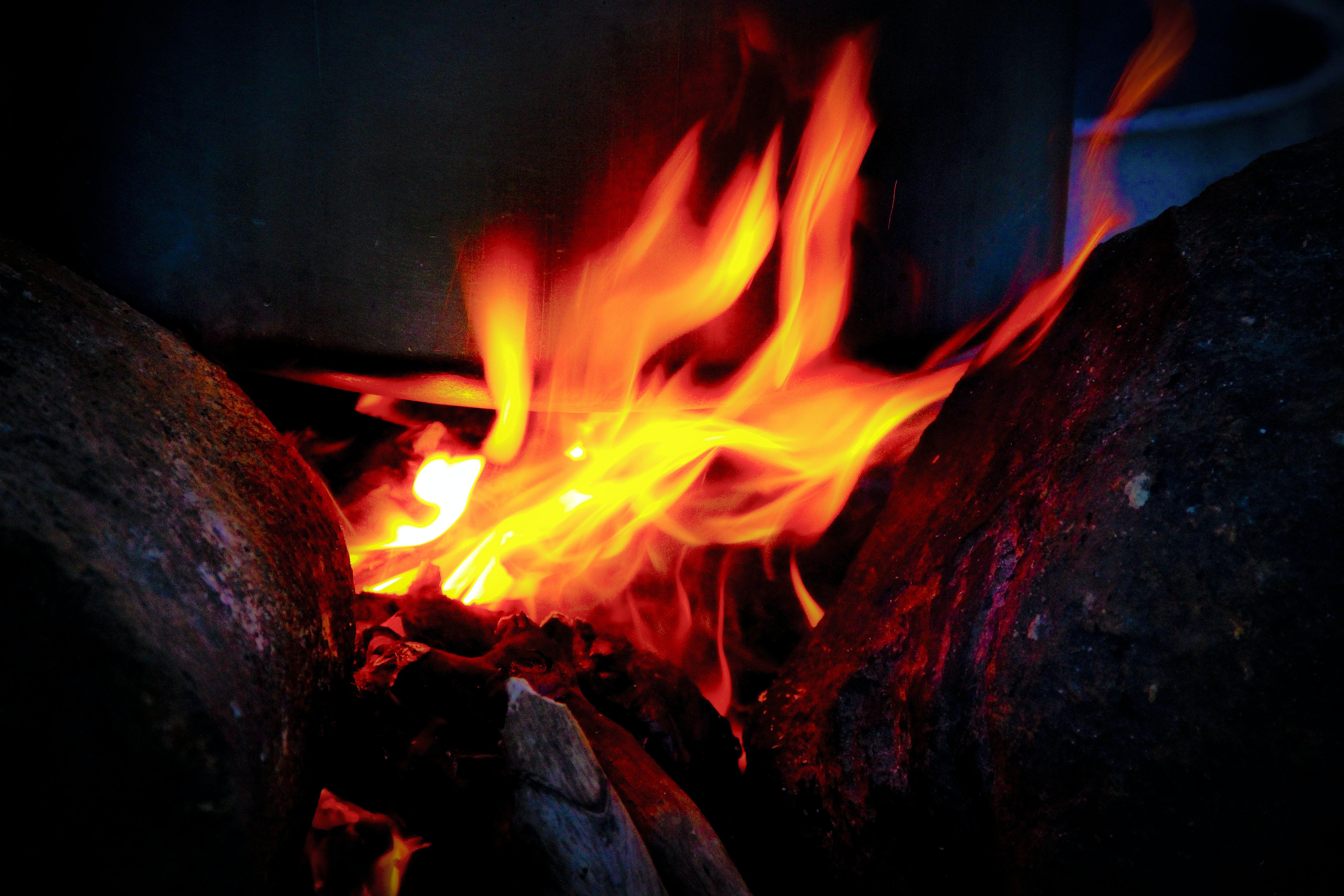 Foto d'estoc gratuïta de calor, cremant, flama, foc