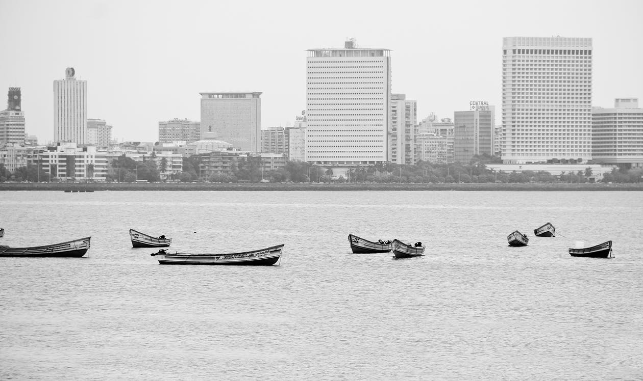 Boat on Body Water and Buildings View