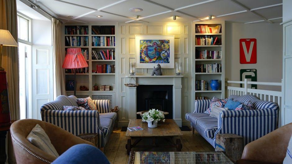 apartment, bookcase, chair