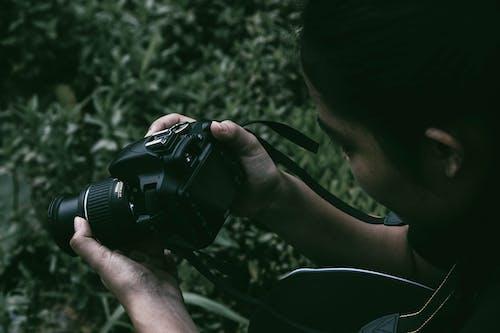 Photos gratuites de appareil photo, appareil photo reflex numérique, brouiller, capturer
