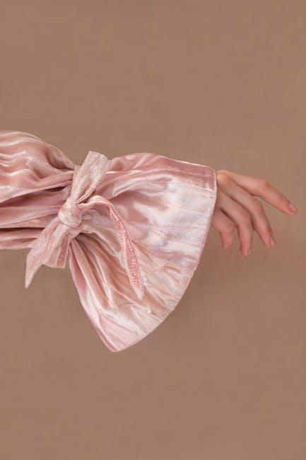 Pink satin apparel