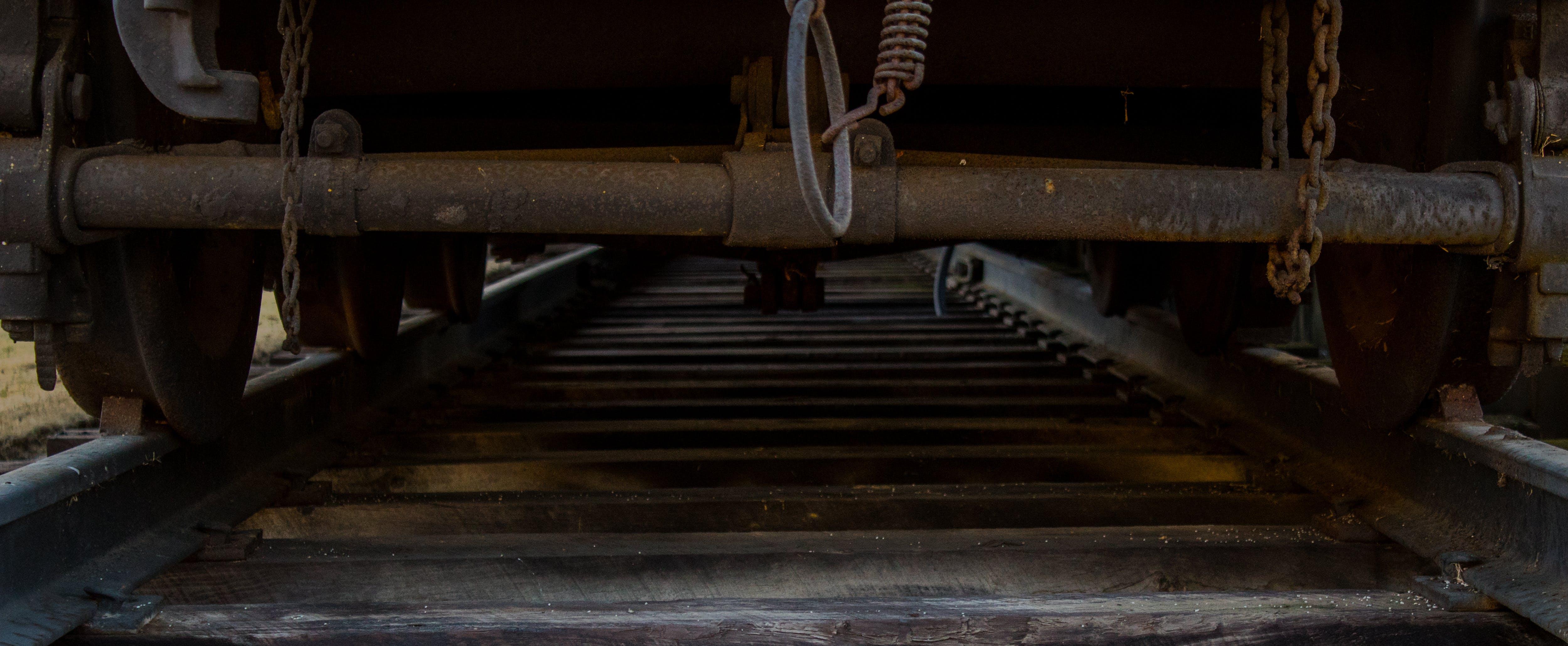 Free stock photo of wood, dark, train, tracks