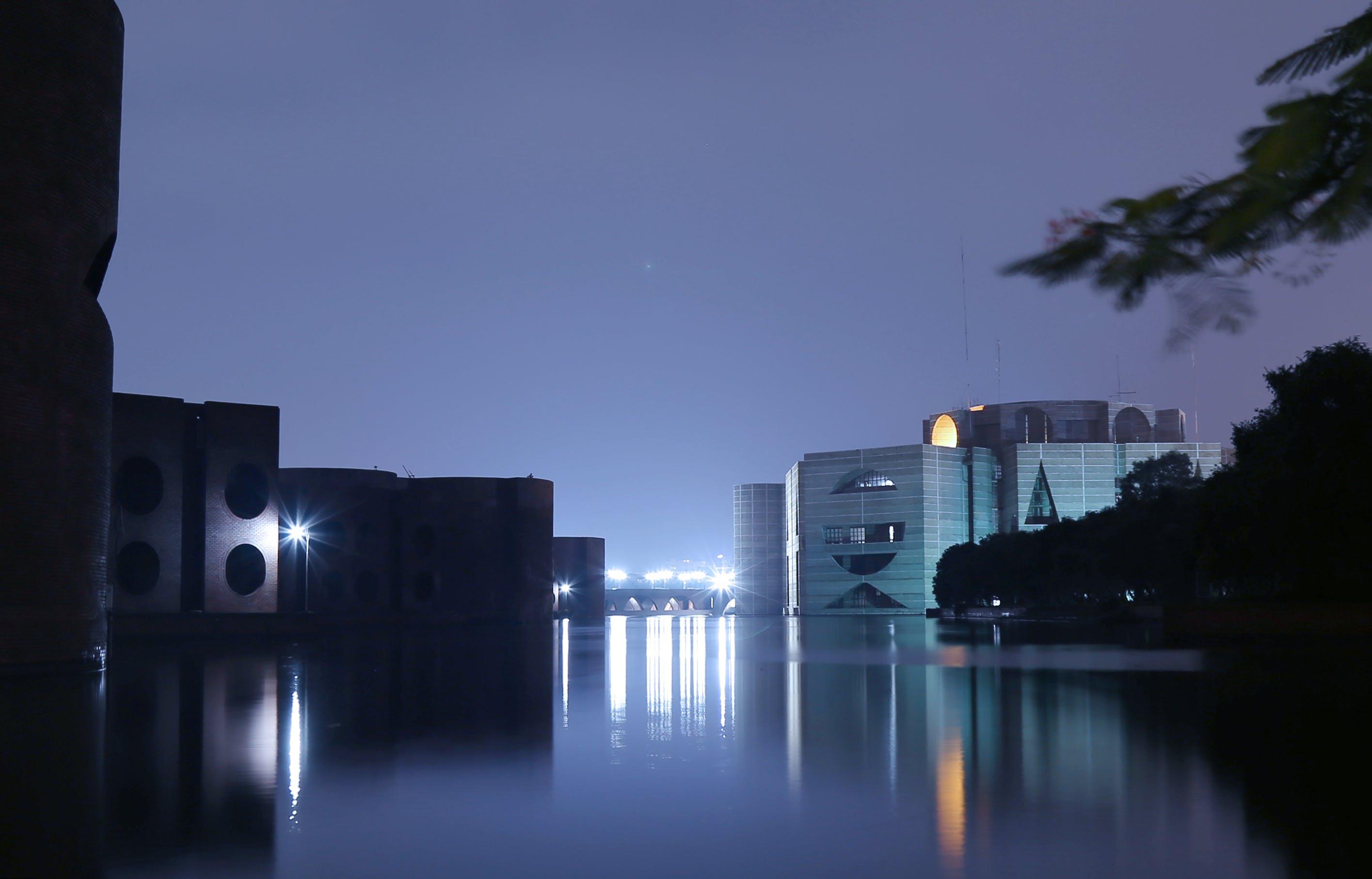 Free stock photo of city, night, parliament house of bangladesh